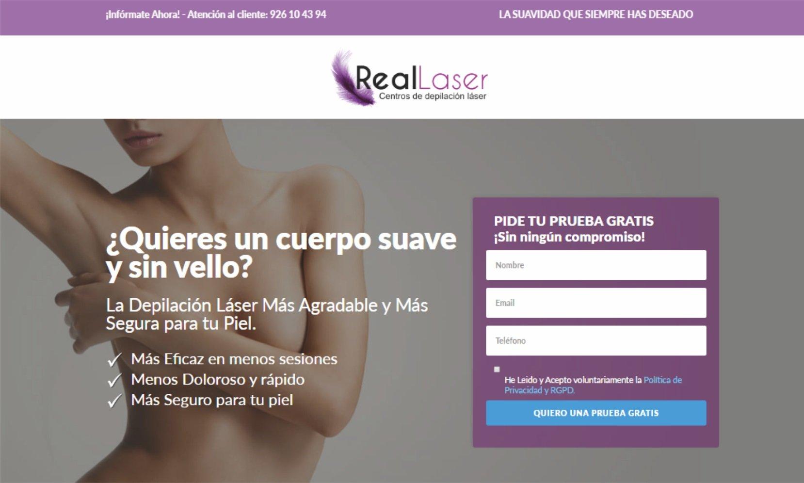 Páginas web para Centros de Estética y Peluquerías