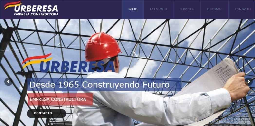 Páginas web para empresas de Construcciones y Reformas