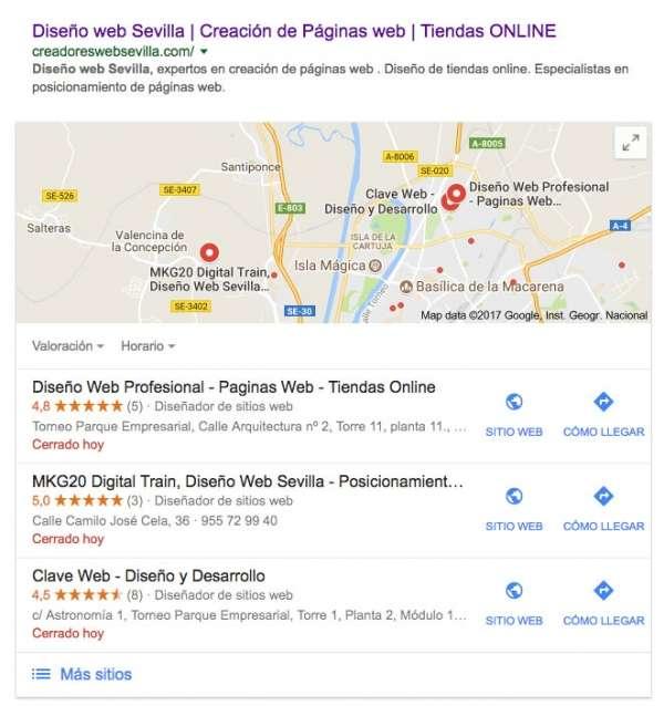 Aparecer en el mapa de google empresas Ciudad Real