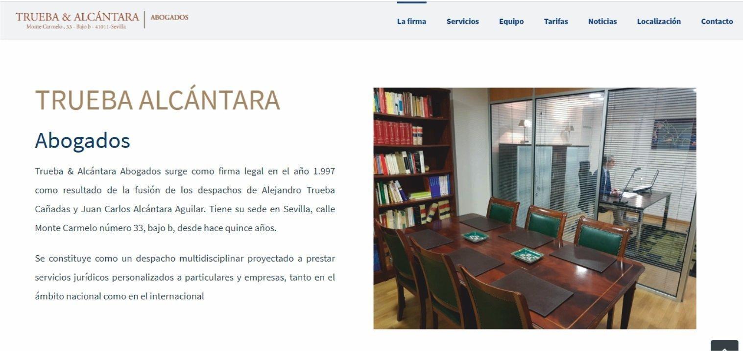 Modelo página web para abogados y asesorías