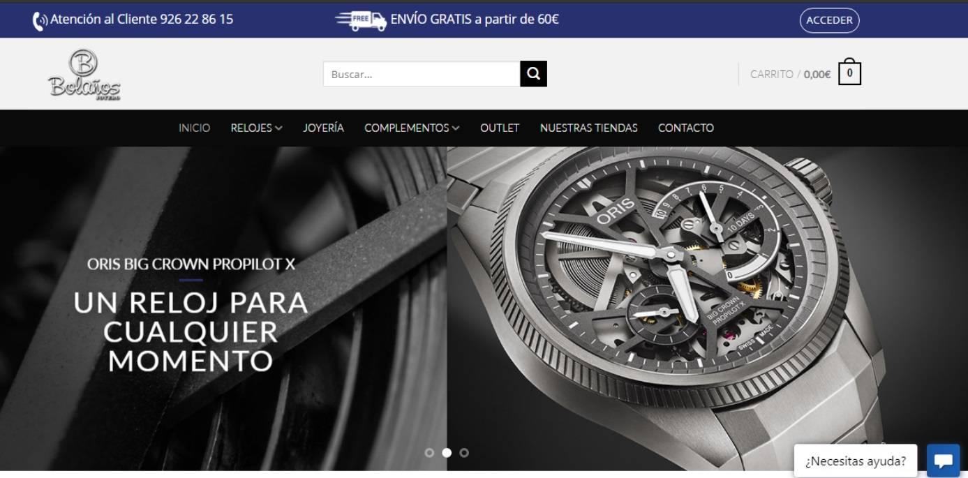Tiendas online para Joyerías, relojería, bisutería páginas web