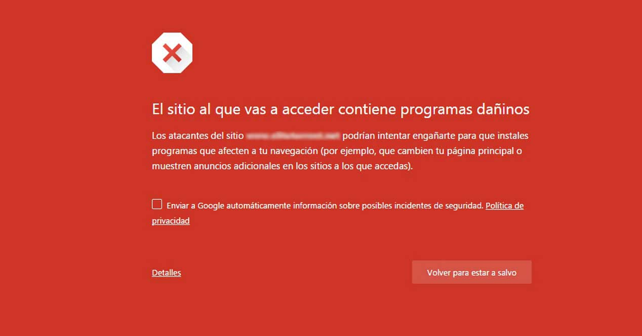 web pirateado hackeada virus contiene programas dañinos